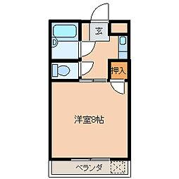 東京都江戸川区中葛西8丁目の賃貸マンションの間取り