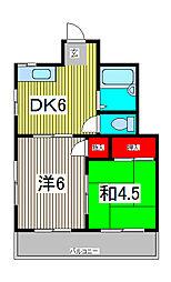 カームハイツ[3階]の間取り