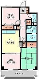 メゾンフォンティーヌ[2階]の間取り