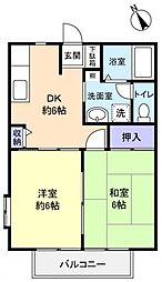 パル石井[2階]の間取り