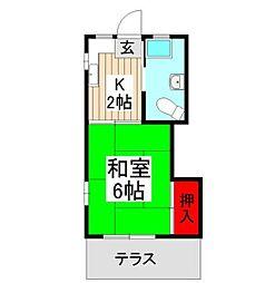 第五松木荘[101号室]の間取り