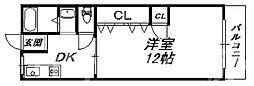 大阪府大阪市住吉区苅田8丁目の賃貸マンションの間取り