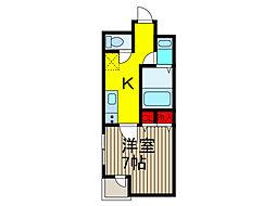 東川口デアコート照光[2階]の間取り