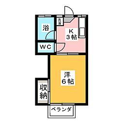 シタラハイツ[1階]の間取り