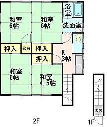 川村住宅[2F号室]の間取り