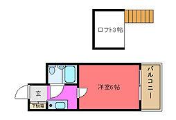 メゾン寺田[302号室]の間取り