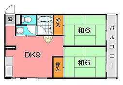 清風園マンション[3階]の間取り