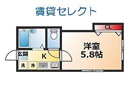 オネスティ松戸[101号室]の間取り