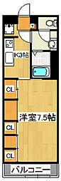 リブリ・エル・エー 1階1Kの間取り