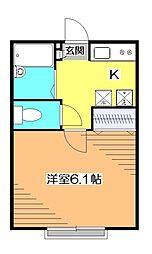 AZESTRENT 一橋学園 II[2階]の間取り