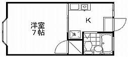 サンパティーク[1階]の間取り