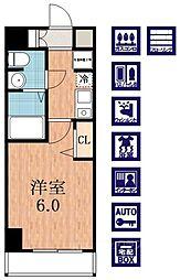 ラナップスクエア四天王寺[5階]の間取り