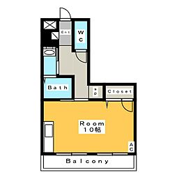ボナール華 C[3階]の間取り