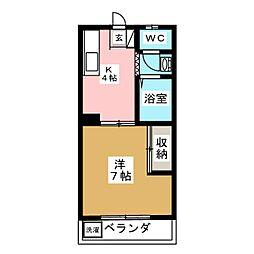 大伸マンション[2階]の間取り