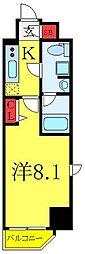 東武東上線 北池袋駅 徒歩8分の賃貸マンション 5階1Kの間取り