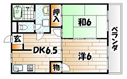 シャトレ西小石 A棟[3階]の間取り
