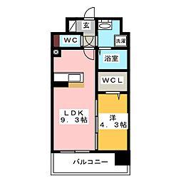 modern palazzo HAKATA riva I[4階]の間取り