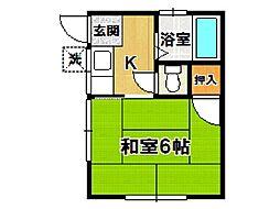 岡田アパート[201号室]の間取り