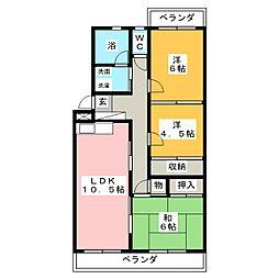 エミネンス山田[2階]の間取り