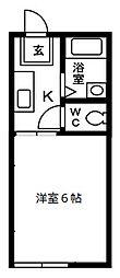 第2パークハイツ[1階]の間取り
