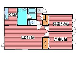 伊藤ハイツA[2階]の間取り