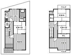 [一戸建] 大阪府富田林市甲田6丁目 の賃貸【/】の間取り