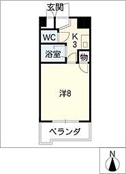 パラシオンFJ[3階]の間取り