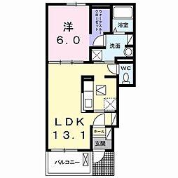 長野県須坂市墨坂3丁目の賃貸アパートの間取り