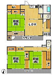 [一戸建] 東京都清瀬市元町1丁目 の賃貸【/】の間取り