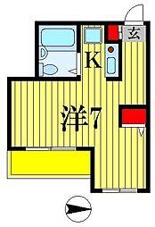 ベルトピア松戸第8[2階]の間取り