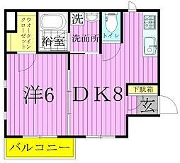 クレールメゾン[1階]の間取り