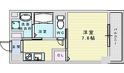 JR東海道・山陽本線 吹田駅 徒歩7分の賃貸マンション 3階1Kの間取り