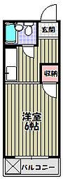 ハイツタキダニ[2階]の間取り