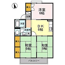 サンビューラ熊田[2階]の間取り