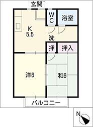 ホームキャロット[2階]の間取り