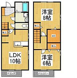 [テラスハウス] 東京都東大和市清水6丁目 の賃貸【/】の間取り