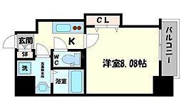 DwellingASAHI 9階1Kの間取り