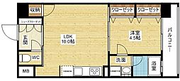 Mid Cort 新大阪[2階]の間取り