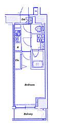 JR東海道本線 横浜駅 徒歩13分の賃貸マンション 8階1Kの間取り
