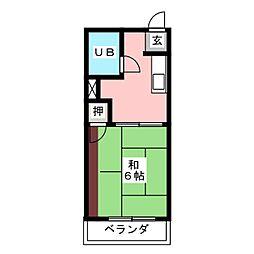 保富コーポ[2階]の間取り