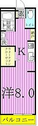 千葉県松戸市北松戸2の賃貸アパートの間取り
