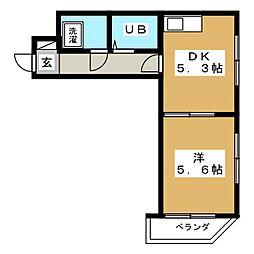 ラフォーレ姫池[3階]の間取り