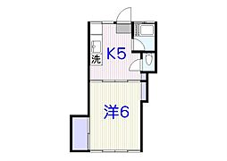 堀ハウス(K09045366813)[206号室]の間取り