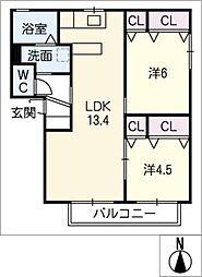 K'Sインペリアル[2階]の間取り