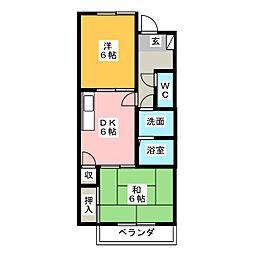サンクノアール[2階]の間取り