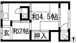 [テラスハウス] 大阪府池田市呉服町 の賃貸【/】の間取り
