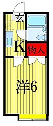 千葉県習志野市鷺沼4の賃貸アパートの間取り