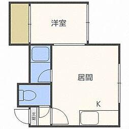 キャプテンビル[1階]の間取り