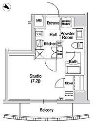 カーサスプレンディッド赤坂7丁目[402号室]の間取り
