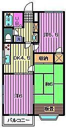 埼玉県川口市東領家3丁目の賃貸アパートの間取り
